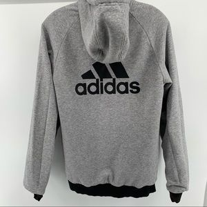 ADIDAS HOODED REVERSIBLE JACKET SIZE SMALL